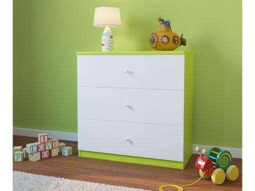 Otroški predalnik BabyDreams - Zelen