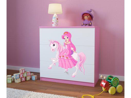 Otroški predalnik Princess Riding a Pony