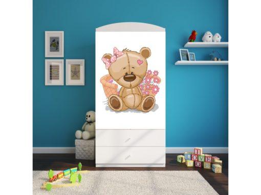 Garderobna omara Bear with Flowers