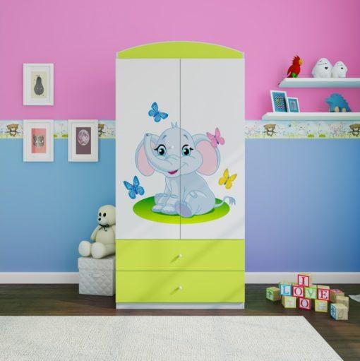 Otroška garderobna omara Elephant