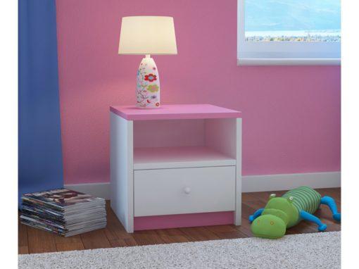 Nočna omarica BabyDreams - Rožnata