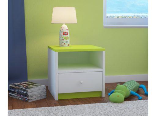 Nočna omarica BabyDreams - Zelena