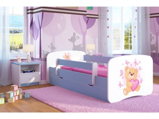 Otroška postelja Bear with Butterflies - Modra